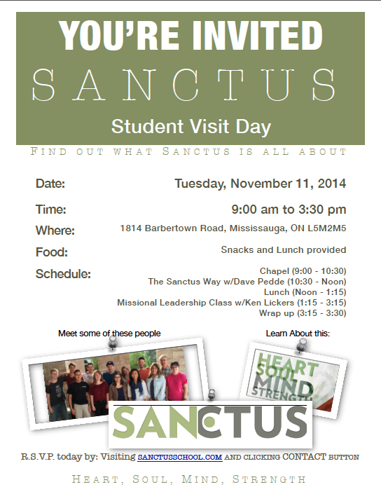 Sanctus-Visit-Day-Fall-2014